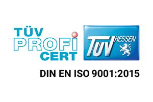 TÜV PROFI CERT DIN EN ISO 9001